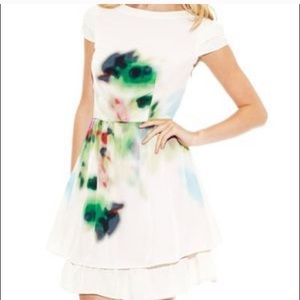 Jessica Simpson Watercolor dress size 10 fit flare